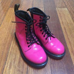 Dr. Martens Delaney Girls Patent Leather Boots